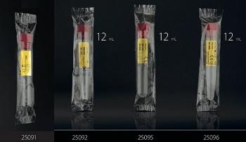 пробирки пластиковые с красной крышкой в индивидуальной упаковке F.L.Medical